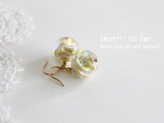 金木犀の香り★ベネチアンガラスの輝きピアスの画像