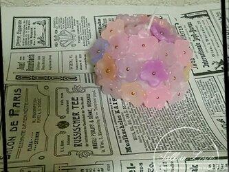 ちょっと秋色フラワーブーケキャンドルの画像