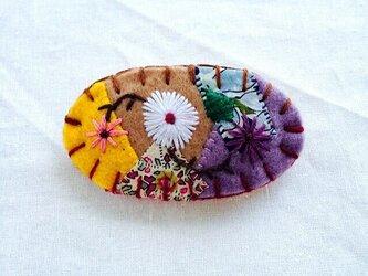 花刺繍のミニバレッタ1の画像
