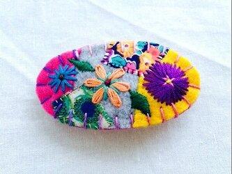 花刺繍のミニバレッタ2の画像