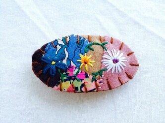 花刺繍のミニバレッタ3の画像