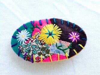 花刺繍のミニバレッタ4の画像