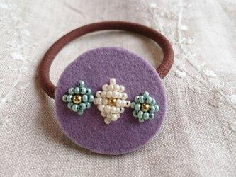 ヘアゴム   purpleの画像