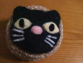 黒ネコちゃんの小物入れの画像