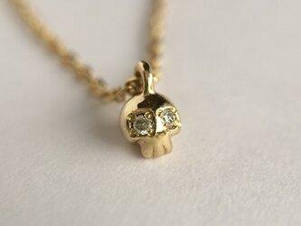 ダイヤモンドクロ ネックレス gold colorの画像