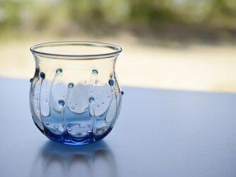 雫のグラス(丸)スカイブルーの画像