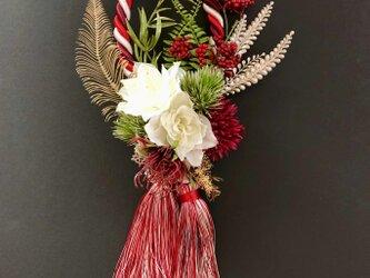 Tassel wreath redの画像