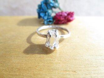 silver ハーキマーダイヤモンド 華奢リングの画像