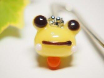 かえるのブックマーカー 黄の画像