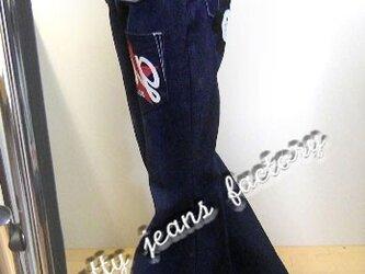 ★☆ベルボトムジーンズ裾88/限定ニコニコ付き/ハンドメイド☆★の画像