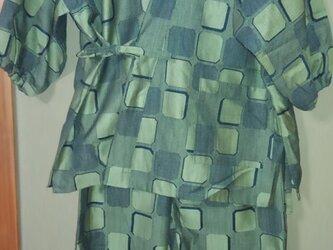 着物リサイクル 女性用作務衣 上下の画像