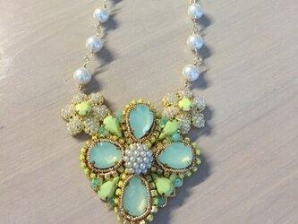 《ネックレス》レモンライムのネックレスの画像