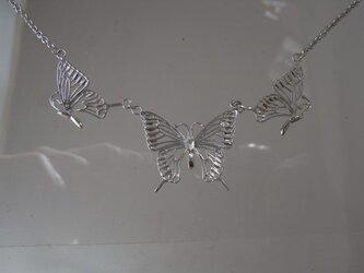 アゲハ蝶3連ペンダントの画像