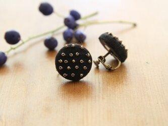 【再入荷】Boutons recouverts en lin(Noir2)の画像