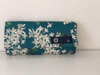<C様オーダー品>リバティ長財布(アーカイブライラック・ブルー)の画像