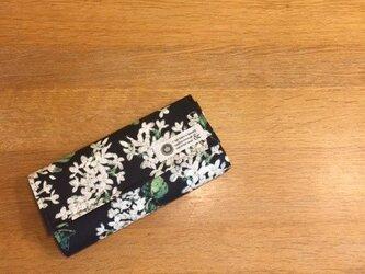<C様オーダー品>リバティ長財布(アーカイブライラック黒)の画像