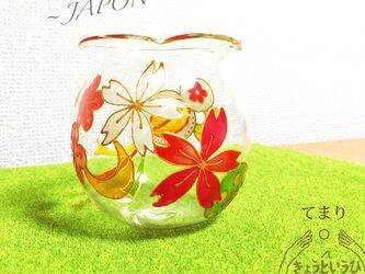 キャンドルホルダー ☆ てまり ☆ 金魚鉢形の画像