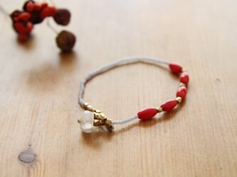 【再入荷】Bracelet en perles corailaux(サンゴとムーンストーン)の画像