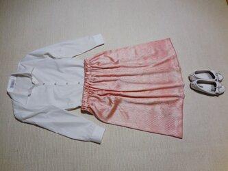 セール!日本の手仕事 りんずの絞りのスカートの画像
