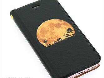 iphone12 ケース 手帳 月 moon カスタムの画像