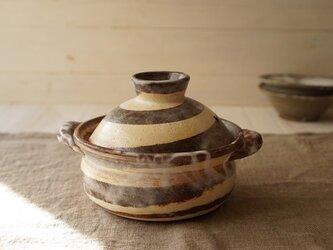 ぐるぐるのたっぷり一人用土鍋の画像