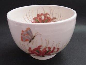 花の器 抹茶碗 ヒガンバナ赤の画像