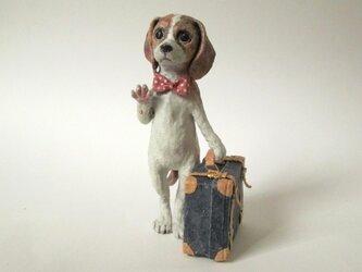 紙のいきもの 旅立ちの犬 ミニチュアの画像