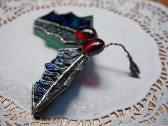 クリスマス ガラスのヒイラギ(緑)の画像