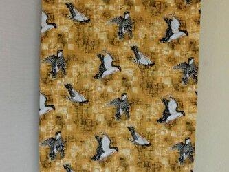 暖簾 のれん 受注製作 黄土色系 鳥の画像
