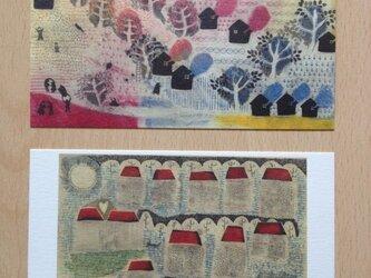 ポストカード そめや まゆみ銅版画 2枚セットの画像