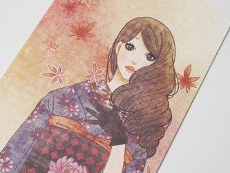 大正ロマン風ポストカード『もみじ』の画像