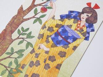 大正ロマン風ポストカード『白雪姫』の画像