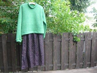 カット&ソー ざっくりセーター イタリア製モヘア生地  の画像