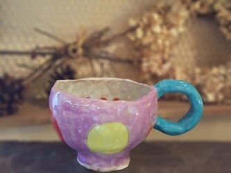 お花のマグカップの画像