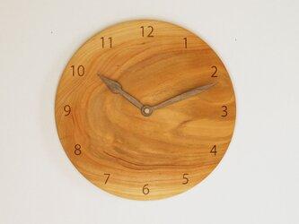 木製 掛け時計 丸型 桜材17の画像