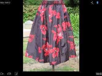 銘仙柄タック入りスカー ト このスカートは、ハルチヨコ様の依頼品です。一点品の画像