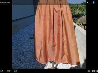 銘仙のギャザースカート  tokyo様の依頼品です。 一点品の画像