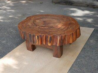 屋久杉の輪切り ローテーブルの画像
