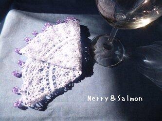 《送料無料》*レース編みジャグカバー* purpleの画像
