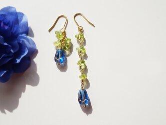 ペリドット ピアス Fleur muguet earrings P0036の画像