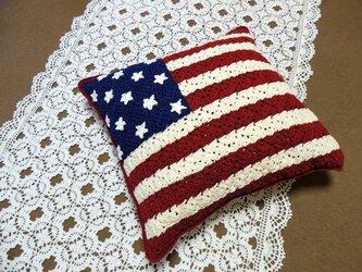 (再販)アメリカ星条旗のクッションの画像