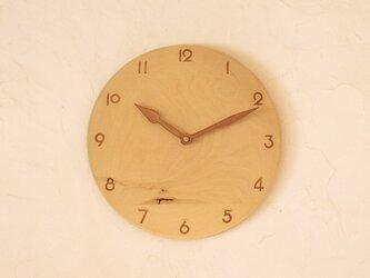 掛け時計 丸 樺材の画像