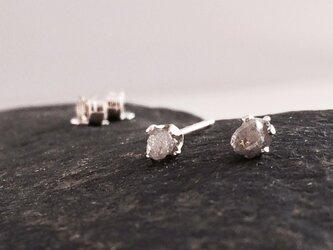 ダイアモンド原石◆SVピアスの画像