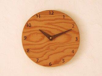 掛け時計 丸 けやき材⑫の画像