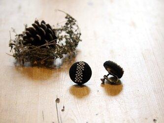 sora様ご注文品 Boutons recouverts en lin (Noir3)の画像