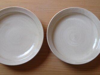 粉引きパスタ皿(グルグル 深め)の画像