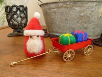 クリスマスに♡荷車とサンタの画像
