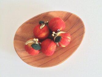 りんごのがま口の画像