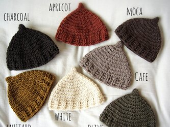 アルパカ毛糸のどんぐり帽子の画像