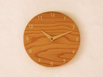 掛け時計 丸 けやき材⑬の画像